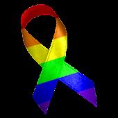 Rainbow Awareness Ribbon Clock