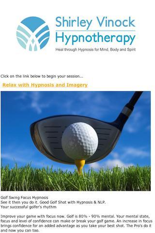 Golf Swing Focus Hypnosis