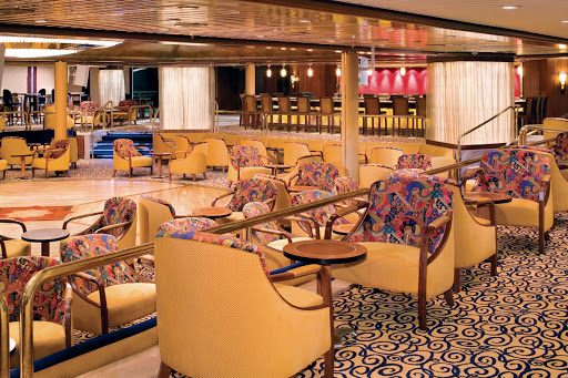 Majesty-of-the-Seas-Boleros - Majesty of the Seas hosts nine bars and lounges, including the Latin-themed Boleros on deck 7.