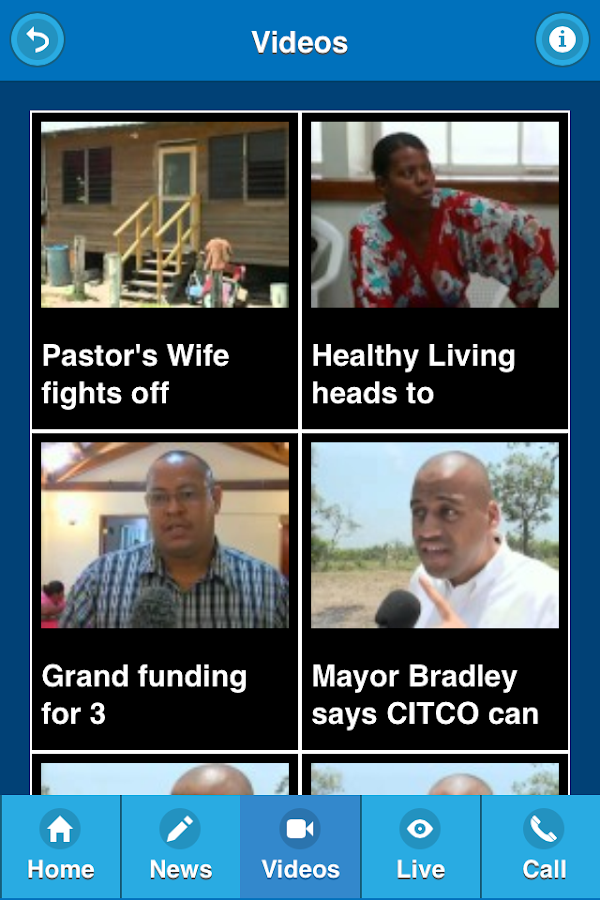 Channel 5 Belize Mobile App- screenshot