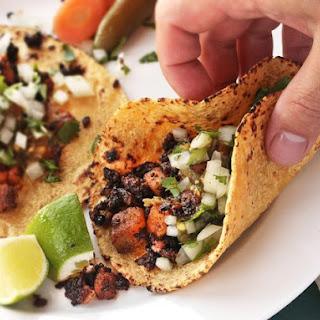 Crispy Potato and Chorizo Tacos.