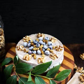 BLUEBERRY VANILLA CREME CAKE
