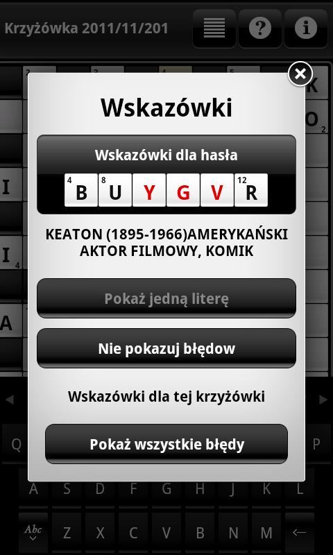 Krzyżówki (Crosswords) - screenshot