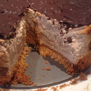 Snickers Style Protein Cheesecake.