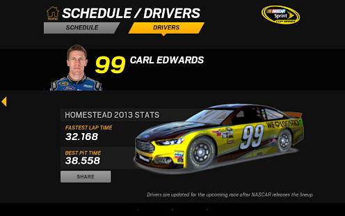 NASCAR RACEVIEW MOBILE - screenshot thumbnail