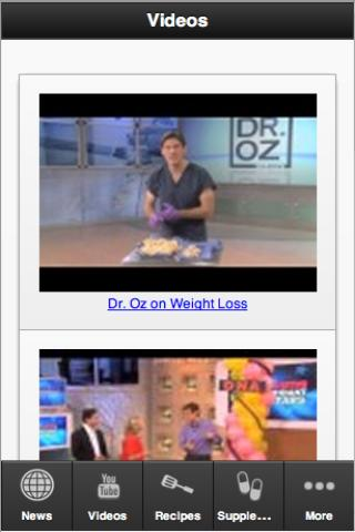 Dr. OZ Fan App - screenshot