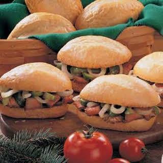 Pepper Steak Sandwiches.