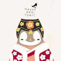 Pepe-New year kakaotalk theme icon