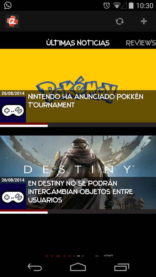 GamerLifeLA: captura de pantalla
