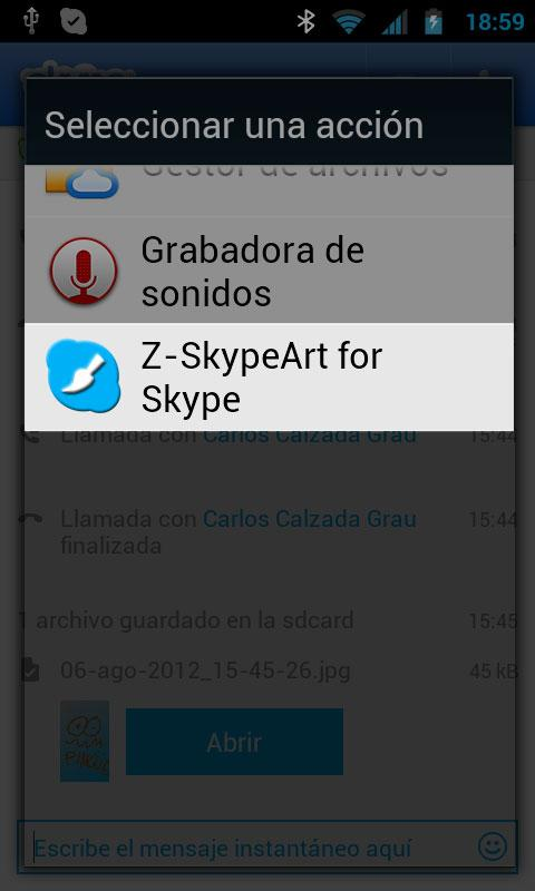 Z - SkypeArt for Skype - screenshot