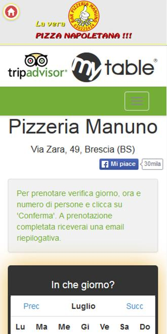 Pizzeria Manuno- screenshot