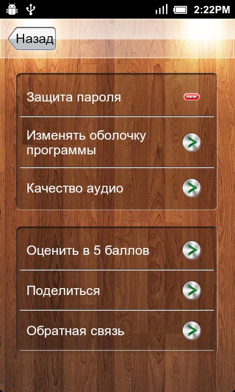 Диктофон на российском языке