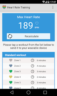 Heart Rate Training - wearable