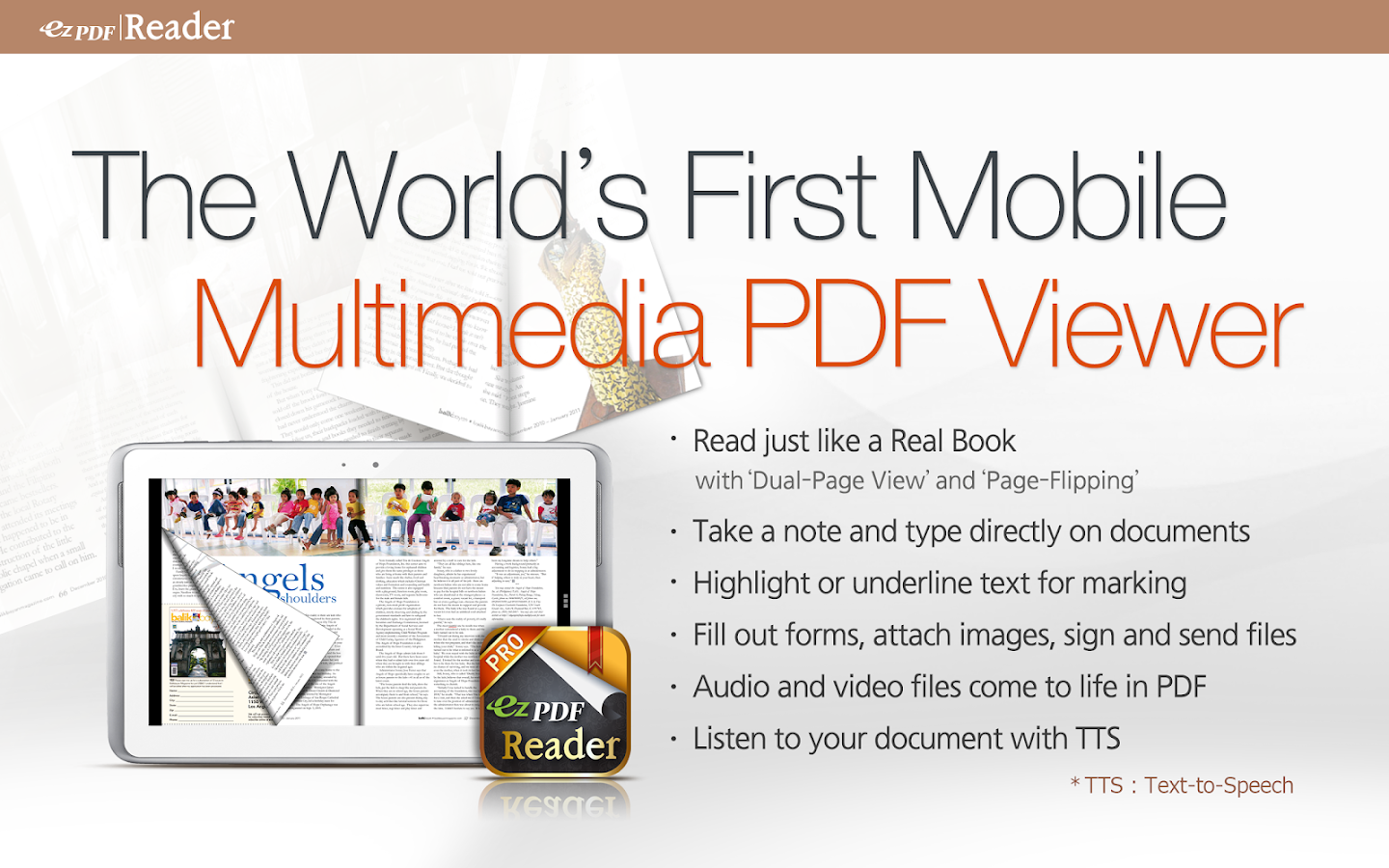 ezPDF Reader - Multimedia PDF - screenshot