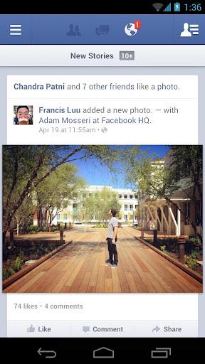 Приложение Facebook для Android