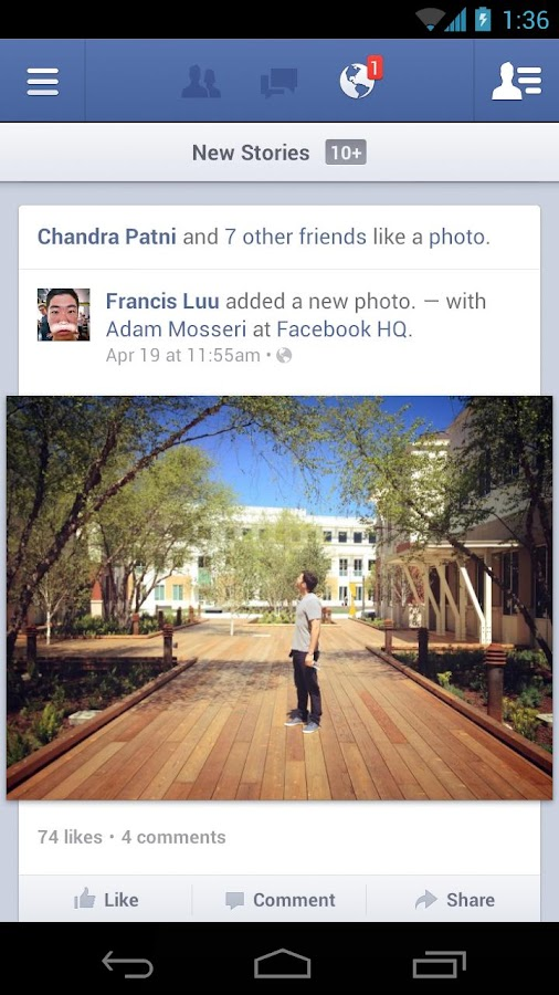 Facebook - screenshot