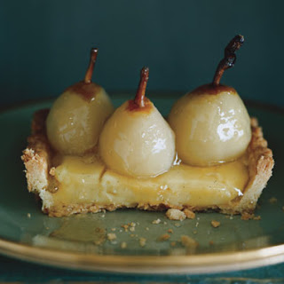 Seckel Pear Tart with Poire William Cream.