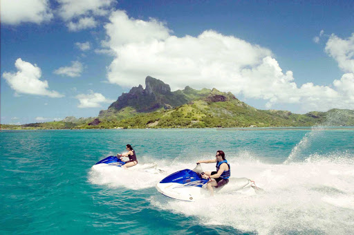 See the shoreline sights around Bora Bora on a Jet Ski at your own speed.