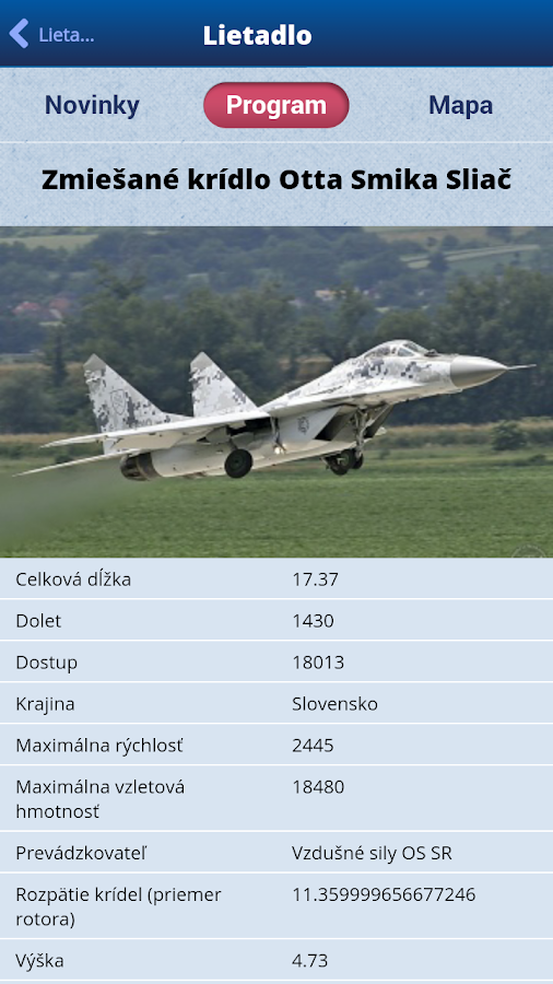 SIAF 2014 - letecké dni Sliač - screenshot