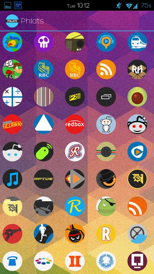 Phlats (Go Apex Nova theme)- screenshot