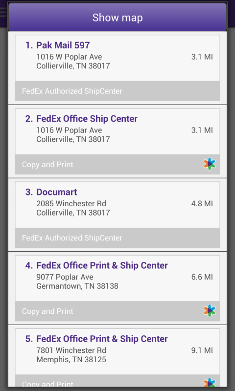 FedEx Mobile- screenshot