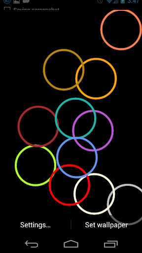 Colored Shapes live wallpaper