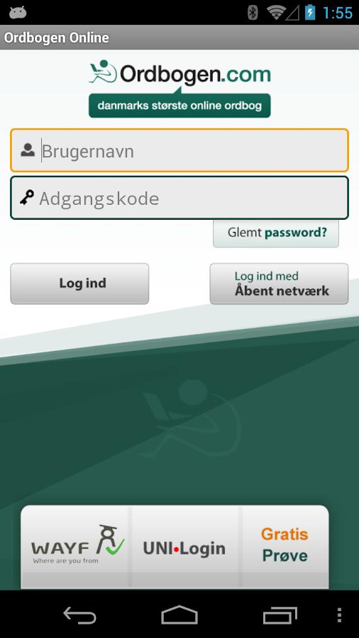 Ordbogen Online- screenshot
