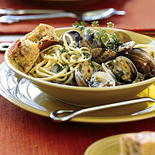 Steamed Clams with Pasta.