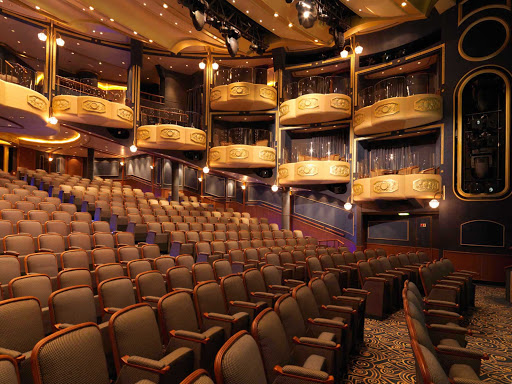Cunard-Queen-Elizabeth-Royal-Court-Theater - The Royal Court Theater aboard Queen Elizabeth gives guests a chance to enjoy a choice of musical productions and classic Shakespeare performances.