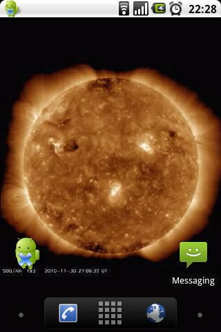 Sun Live Wallpaper Free - screenshot