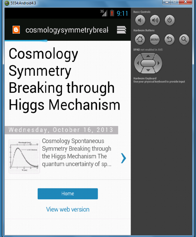Cosmology- screenshot