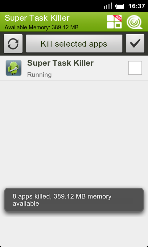 Super Task Killer FREE - screenshot
