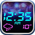 Fireworks Weather Clock Widget icon