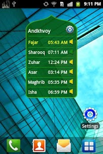 Prayer Time & Qibla (Widget) Screenshot 4
