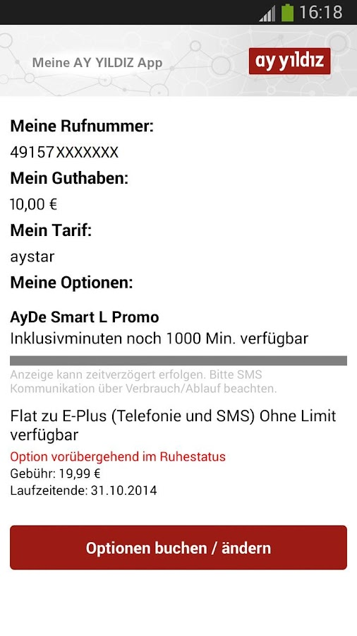 AY YILDIZ Prepaid - screenshot