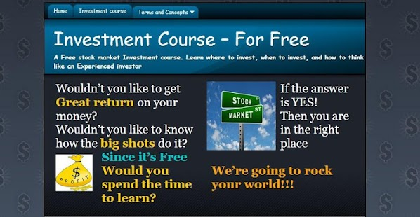 Investment Course for Tablets