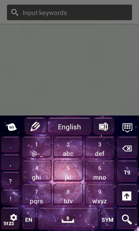 Super Galaxy Keyboard- screenshot