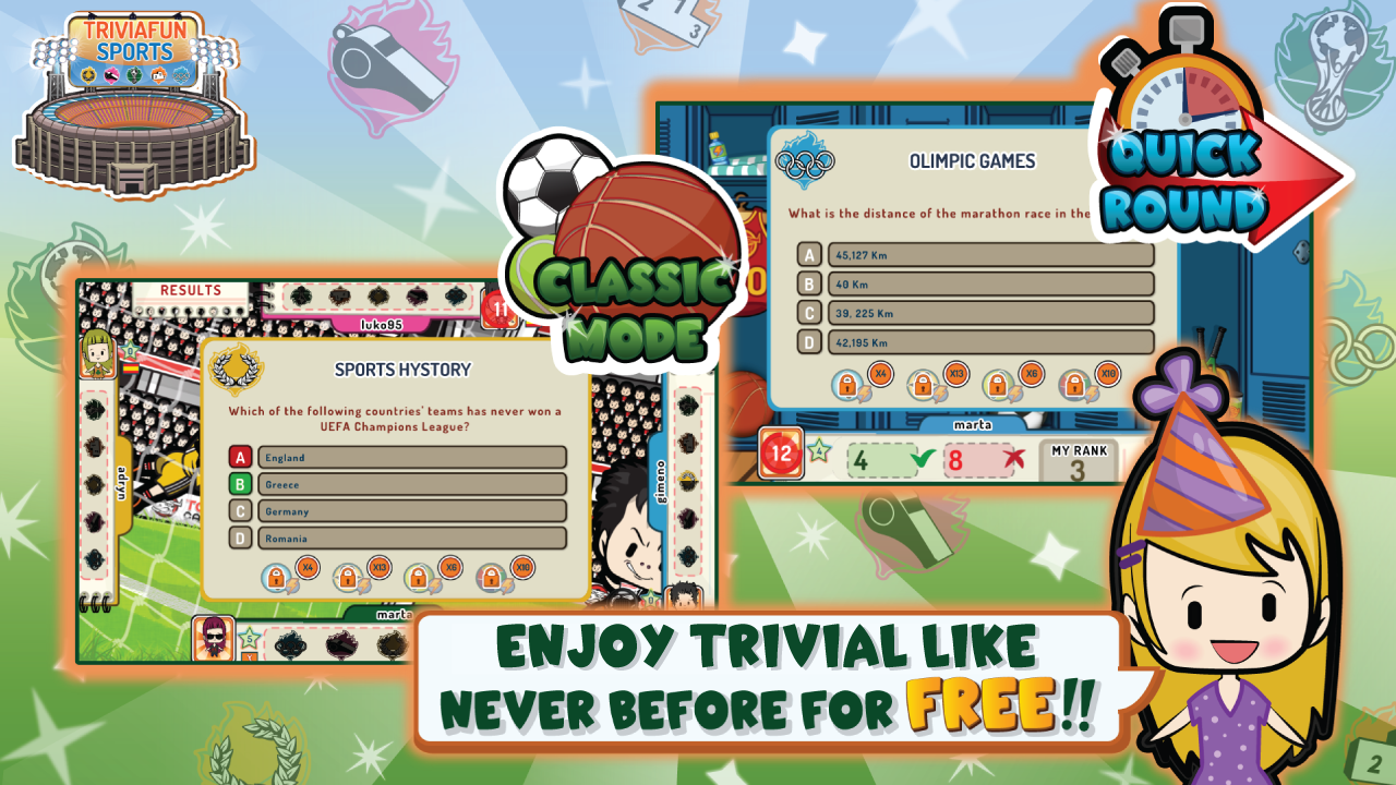 Trivia Fun Sports - Trivial!- screenshot