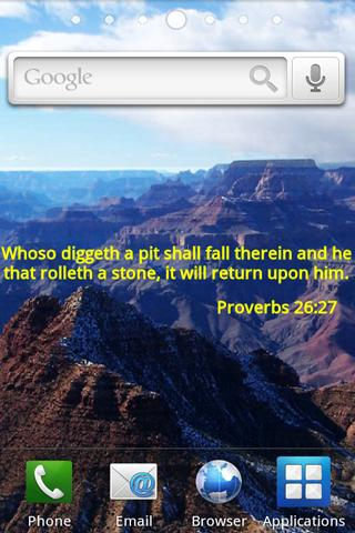 Bible Verses Live Wallpaper 2 - screenshot