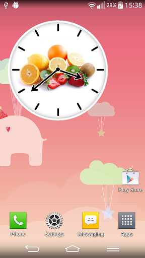 水果時鐘鬧鈴小工具