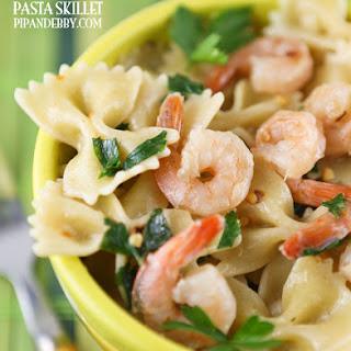 Lemon Shrimp Pasta Skillet.