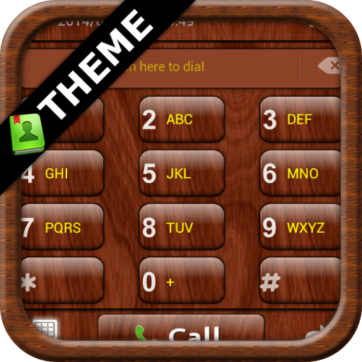GOContacts theme Mahogany Wood