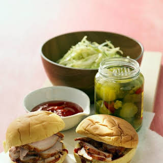 Barbecue Pork Sandwiches with Cabbage Slaw.