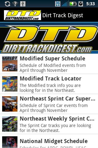 Dirt Track Digest- screenshot