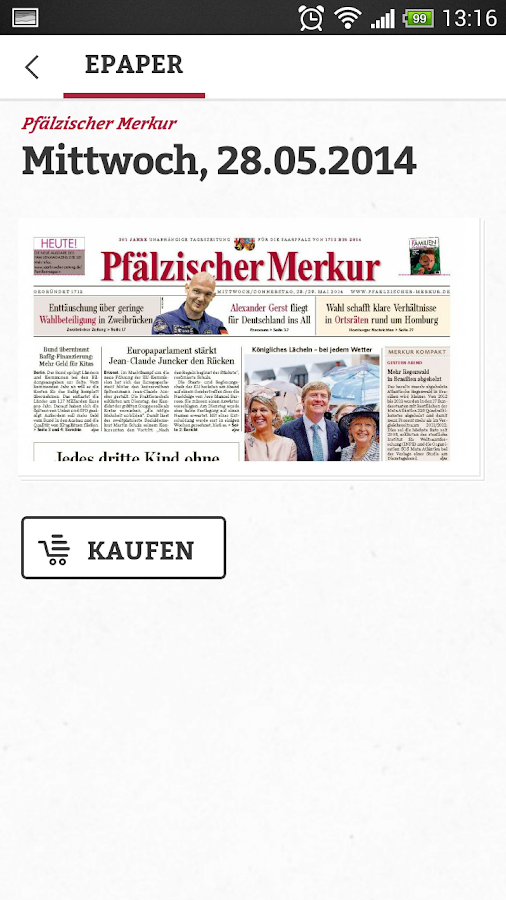 Pfälzischer Merkur Digital- screenshot