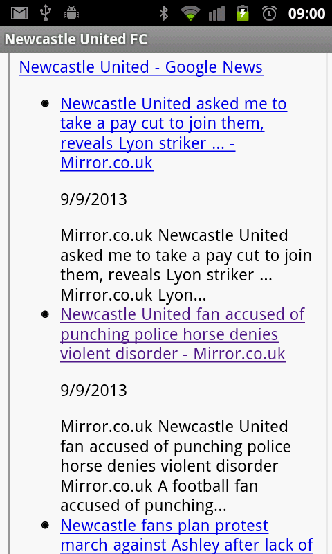 Newcastle United FC News - screenshot
