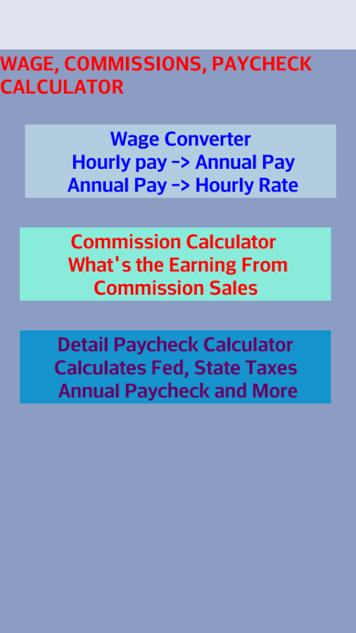 complete paycheck calculator