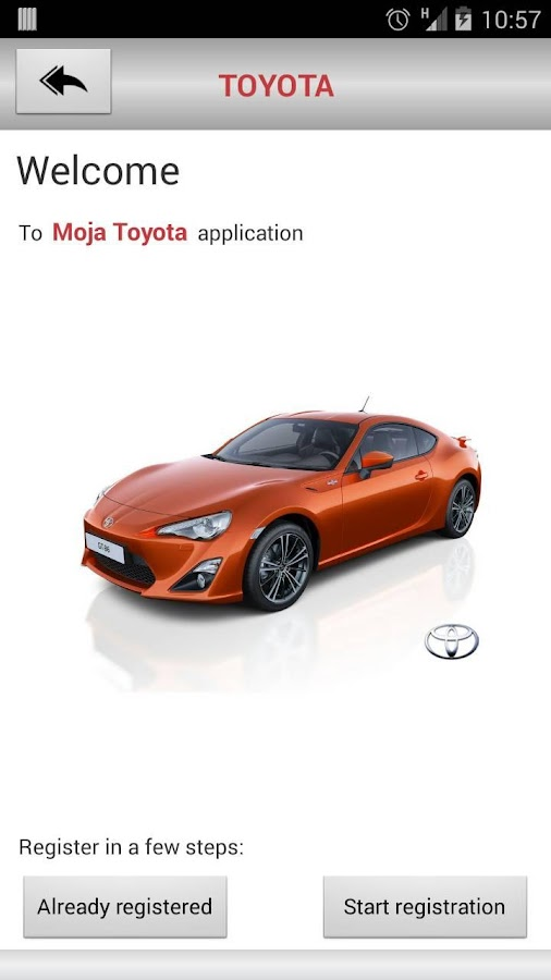 Moja Toyota- screenshot