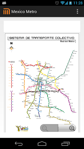 Mexico D.F Metro MAP