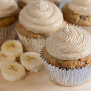 Dairy Free Banana Cupcakes with Brown Sugar Buttercream.